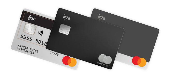 Carte di debito mastercard di N26