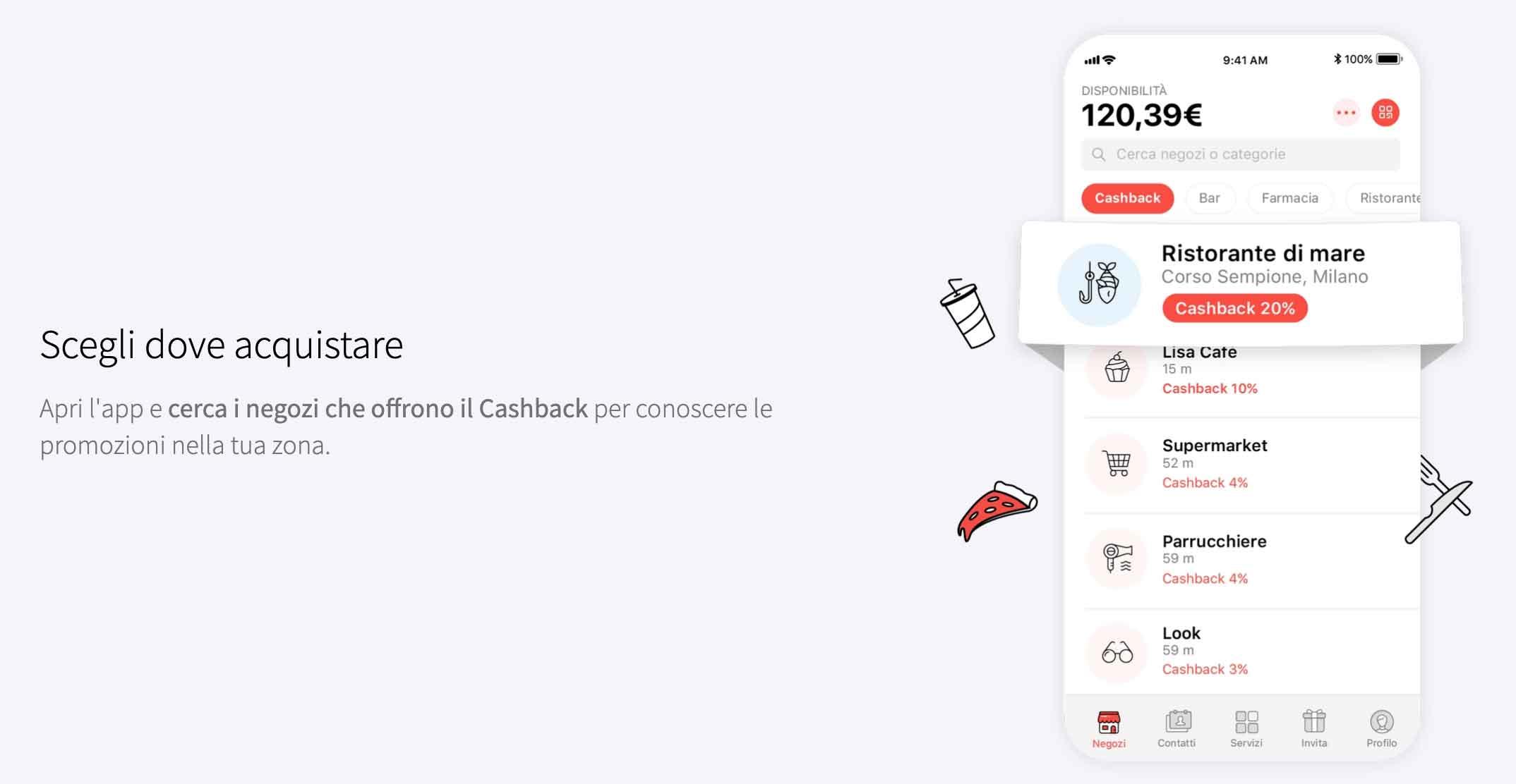 App cashback Satispay