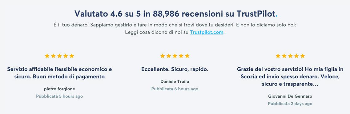 Opinioni clienti su TransferWise